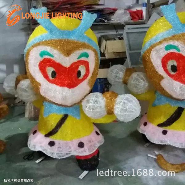 高1米猴子搬桃造型灯 LJ-HZZXD1008RYGB (5