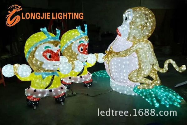 高1米猴子搬桃造型灯 LJ-HZZXD1008RYGB (3