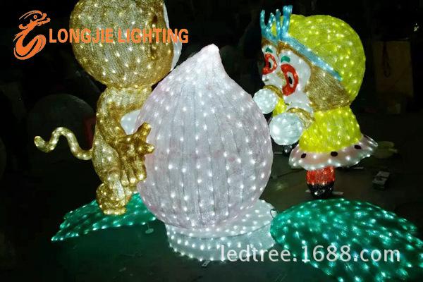 高1米猴子搬桃造型灯 LJ-HZZXD1008RYGB (2