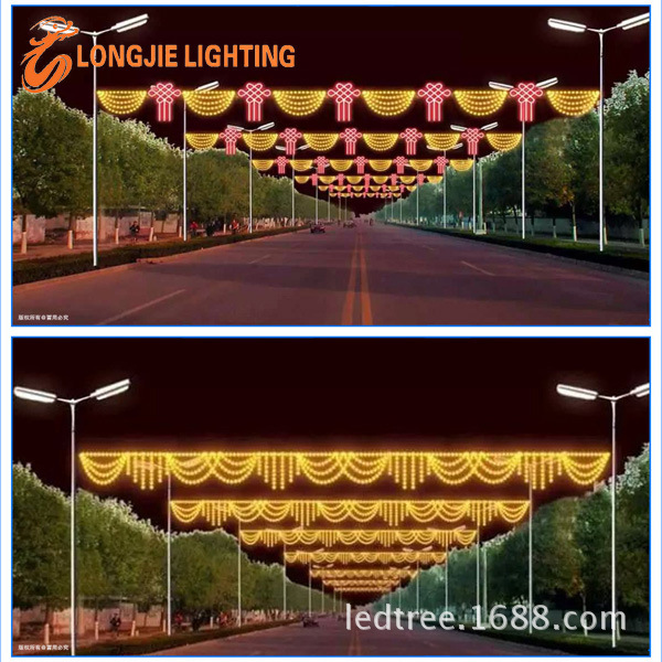 长20米灯 灯笼跨街灯 中国结跨街灯  LJ-ZGJKJD2