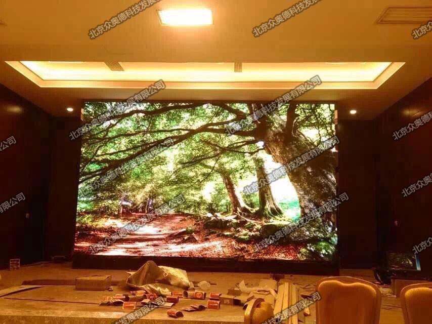 北京农家乐宴会厅室内P5全彩LED显示屏24㎡