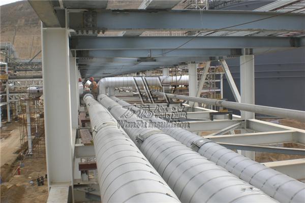 聚氨酯瓦壳-西藏六县供热管网(EPC)施工现场