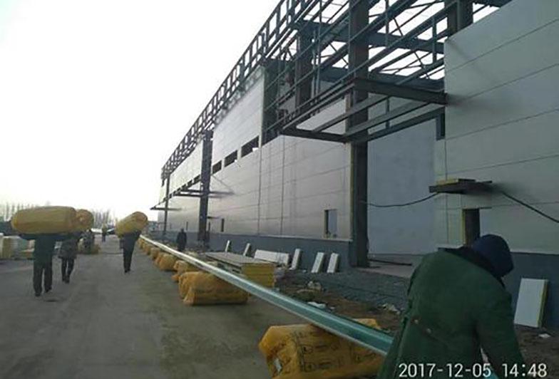 河南聚氨酯保温板安装案例
