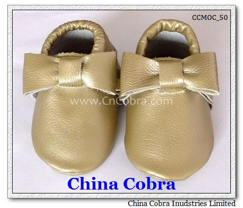 baby gold moccasins shoes