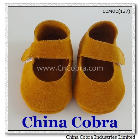 CHINA COBRA baby suede moccasins shoes