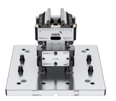 德国HWR 零点定位快速装夹治具工装夹具cnc定位器非LANG