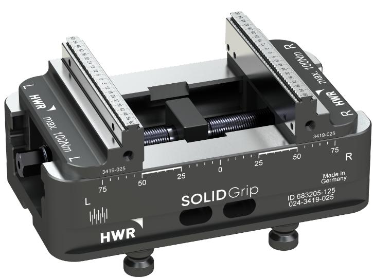 德国HWR125-125五轴虎钳快速夹具工装夹治具cnc定位器可替换LANG