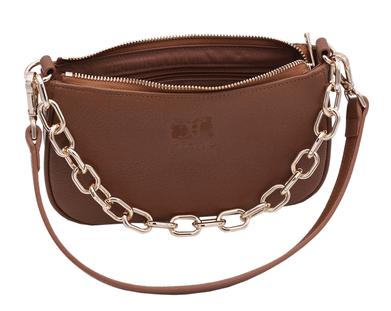 Picture of New Design Chain Handle Portable Handbag Custom Leather Handbag For Women