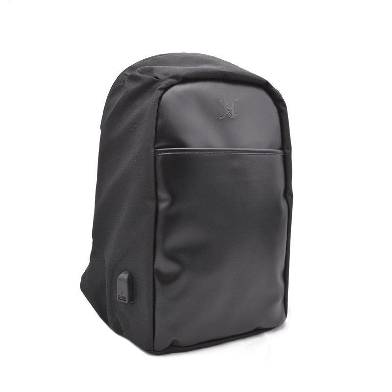 Picture of Young Men Fashion Outdoor Backpack USB Charging Anti -theft Bag Smart Slim Laptop Backpack