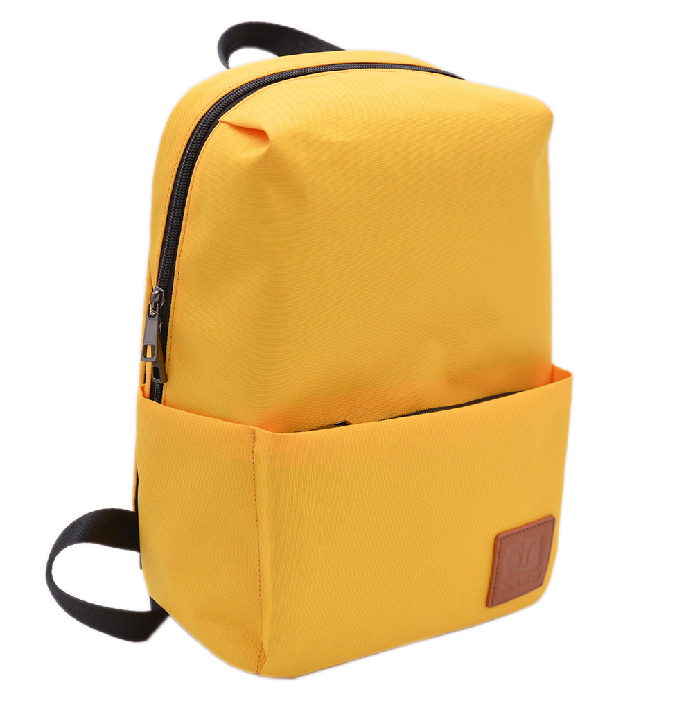 Picture of Single Yellow Simple Design Mini Backpack Custom Portable Nylon Backpack For Lady