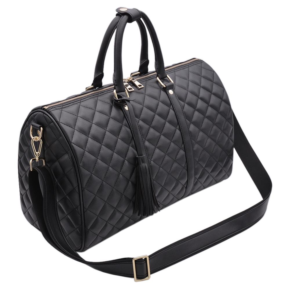 Picture of New Design Waterproof Black PU Ladies Travel Duffle Bag