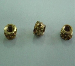 铜滚花螺母