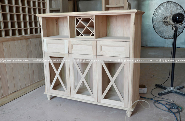 实木餐边柜
