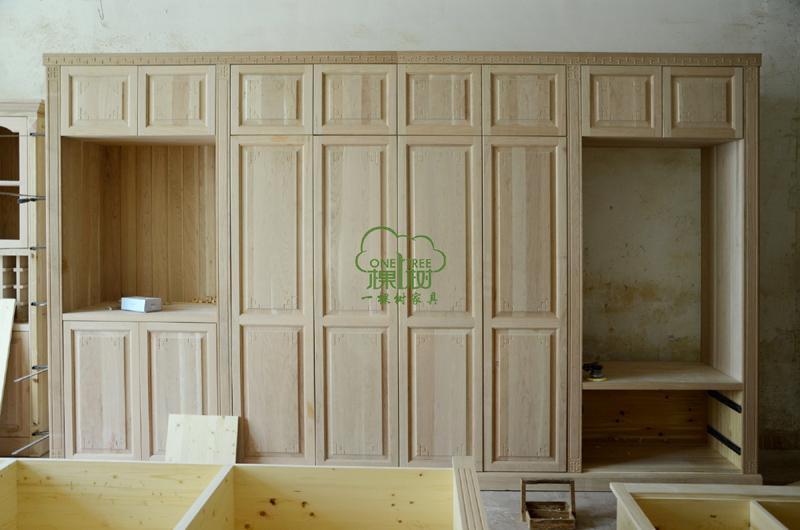 实木组合衣柜