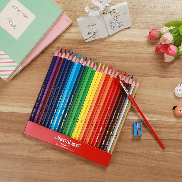 加彩48色彩铅水溶性彩铅